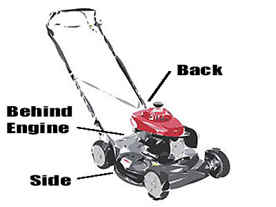 How to find push mower model number