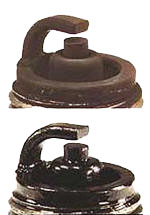 Spark Plug with Dry and Wet Fouling