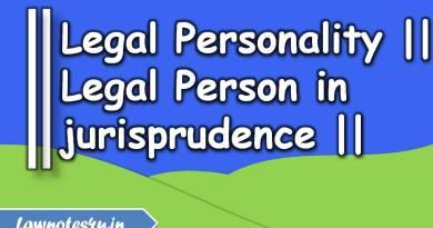 legal personality in jurisprudence