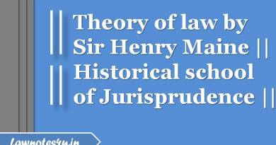 Theory of law by Sir Henry Maine jurisprudence