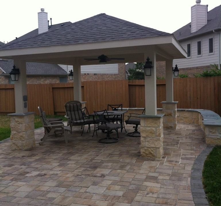 how to landscape with pavers lawnstarter