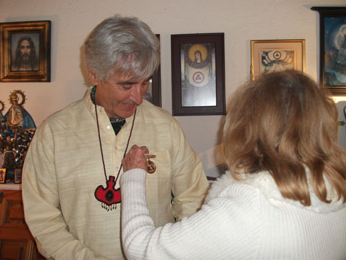 [Dr. Jose Arguelles receives Banner of Peace