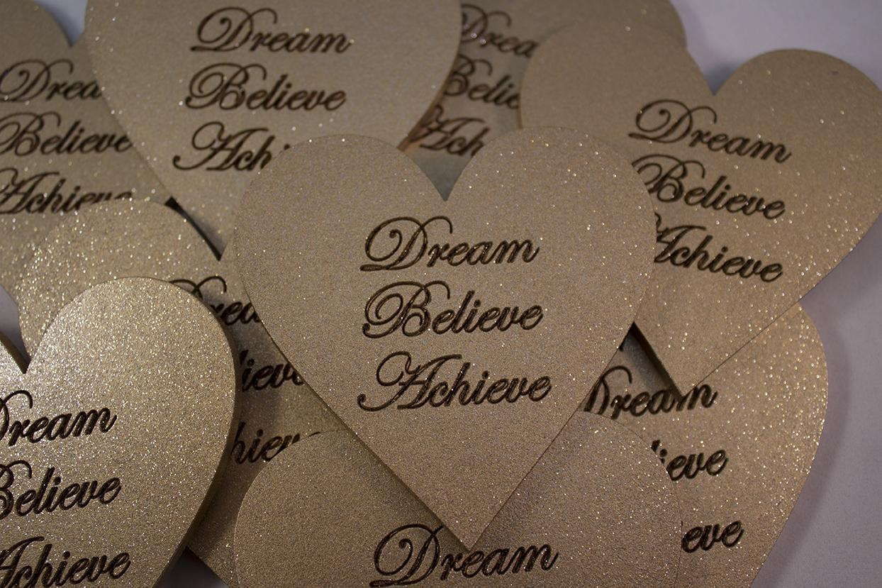 large heart shape magnetic dream believe achieve