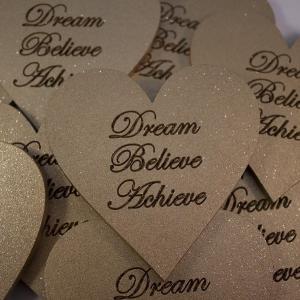 large heart shape magnetic dream believe achieve