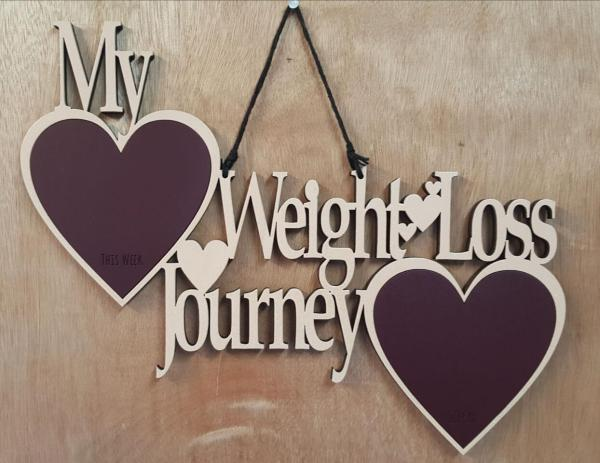 Weight loss journey weight plaque