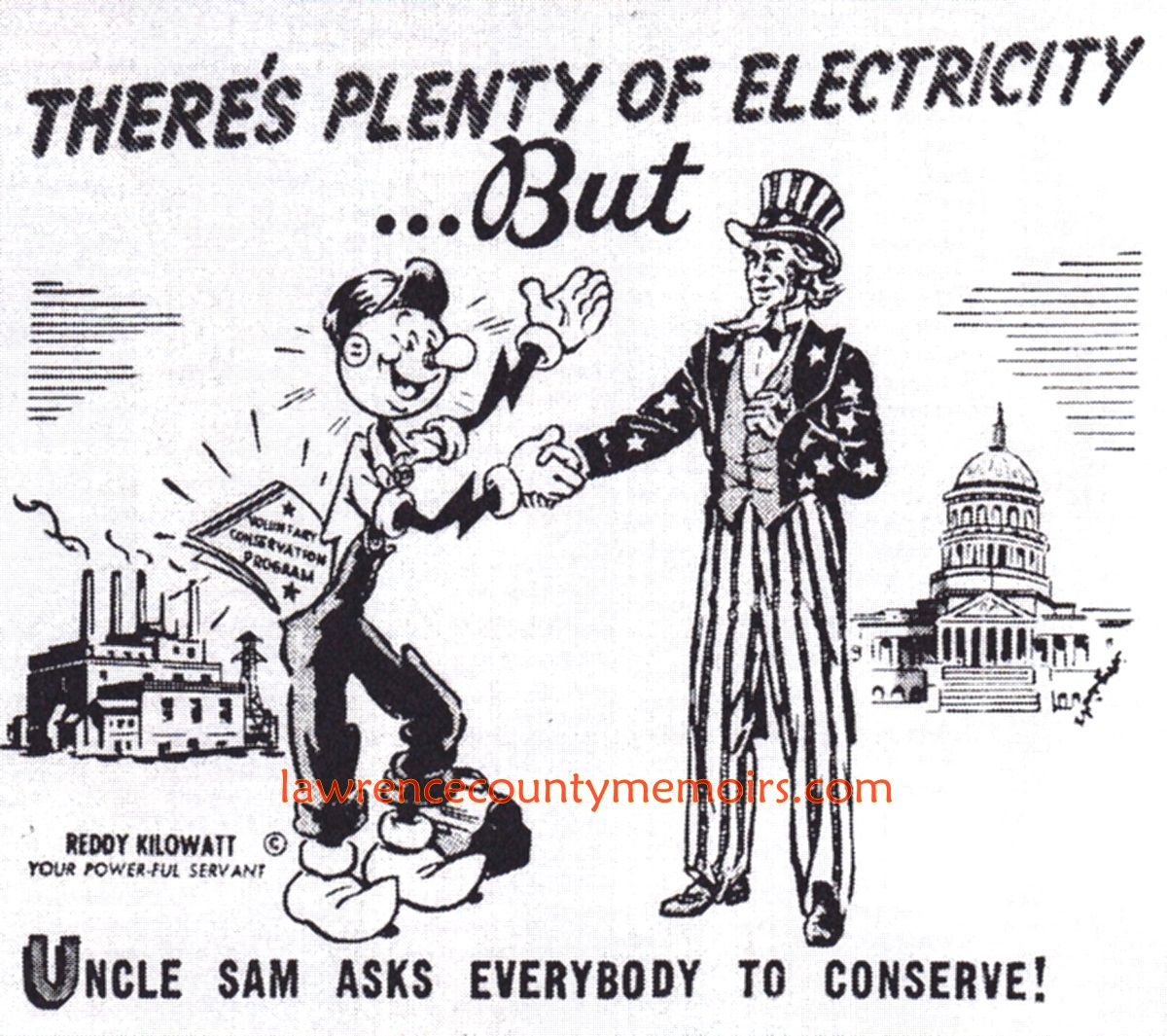 Lawrence County Memoirs Reddy Kilowatt Penn Power Sign