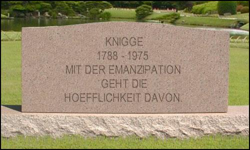 """Knigge"" were the rules of manners in Germany"
