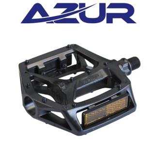 "Azur Rail Alloy 9/16"" Bike Pedal - One Piece Alloy - Black"