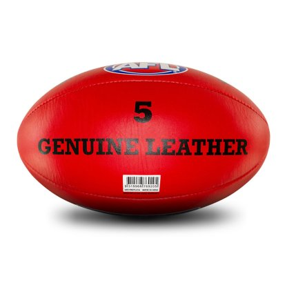 Sherrin AFL Replica Red Leather Training Football - Size 5