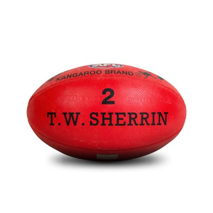 Sherrin KB All Surface Red Football - Size 2 Rear