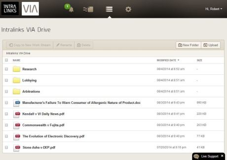 VIA Drive is for storing files in the cloud.