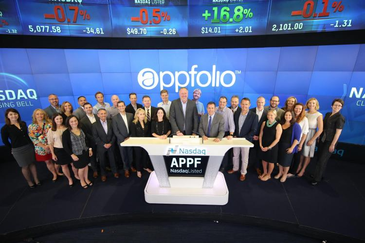 AppFolio opened for trading on the Nasdaq market on June 26.