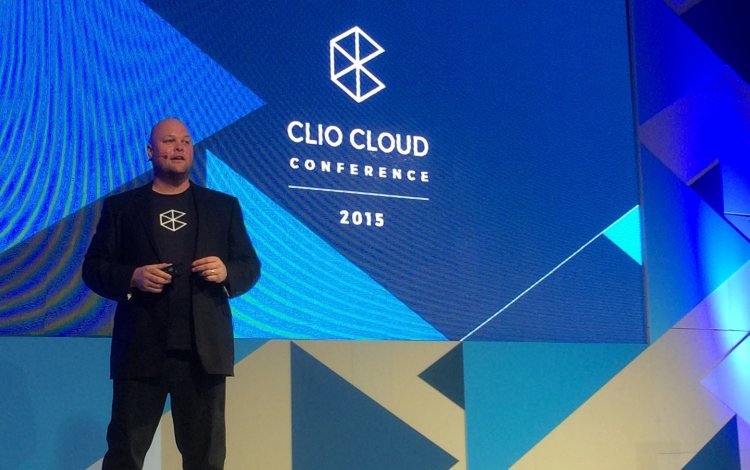 Clio CEO and co-founder Jack Newton delivers the opening keynote at last year's conference.