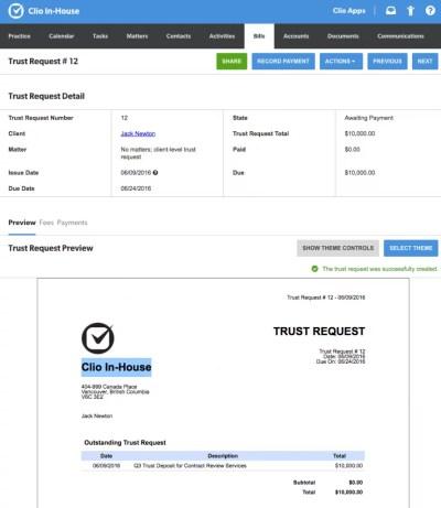 Trust Request Draft - Clio