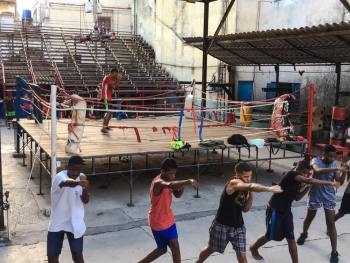Boxing ring in Havana.
