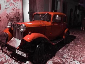 A classic car.