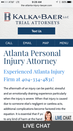 Add a text widget to your firm's mobile site.
