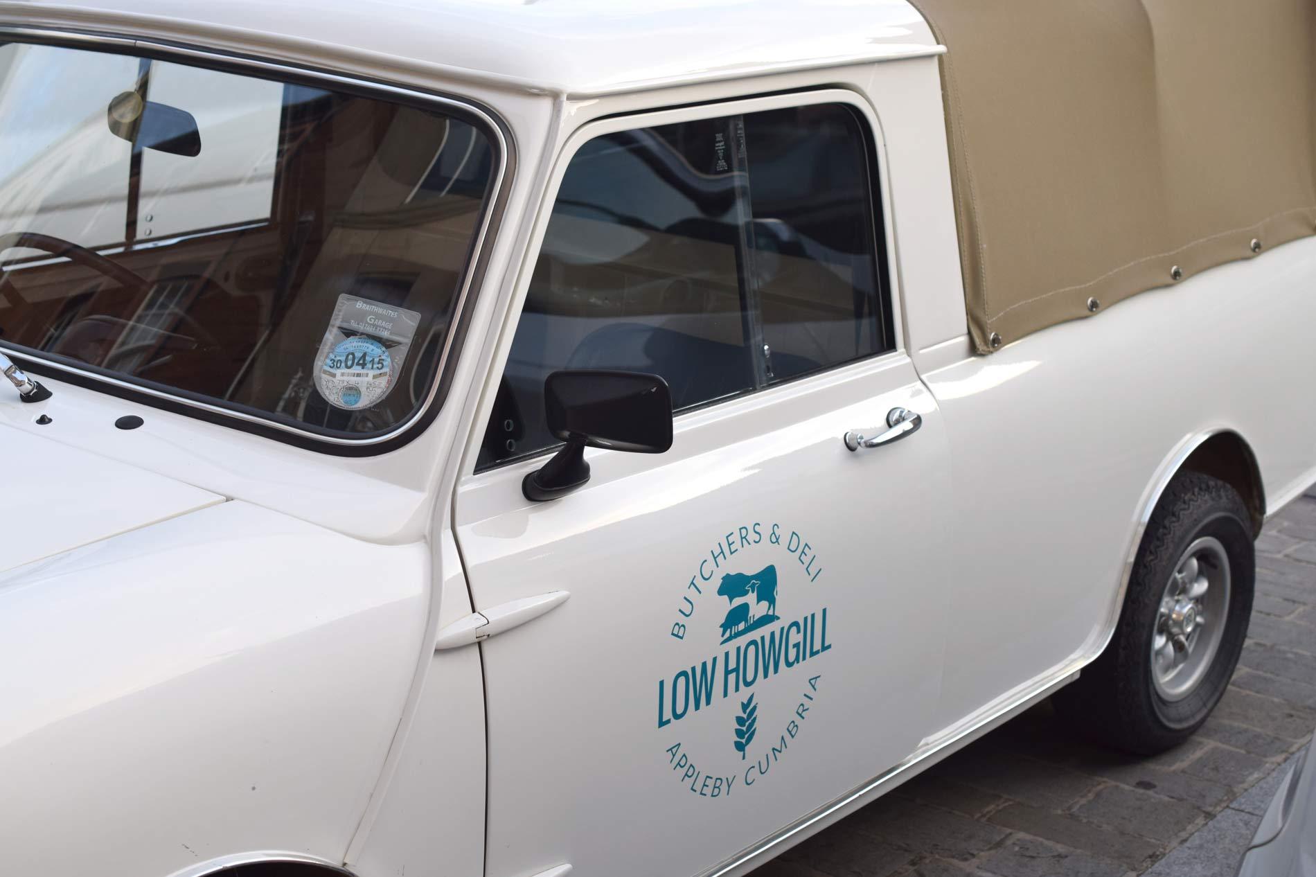 Low Howgill Butcher & Deli, Appleby, Cumbria logo branded mini design