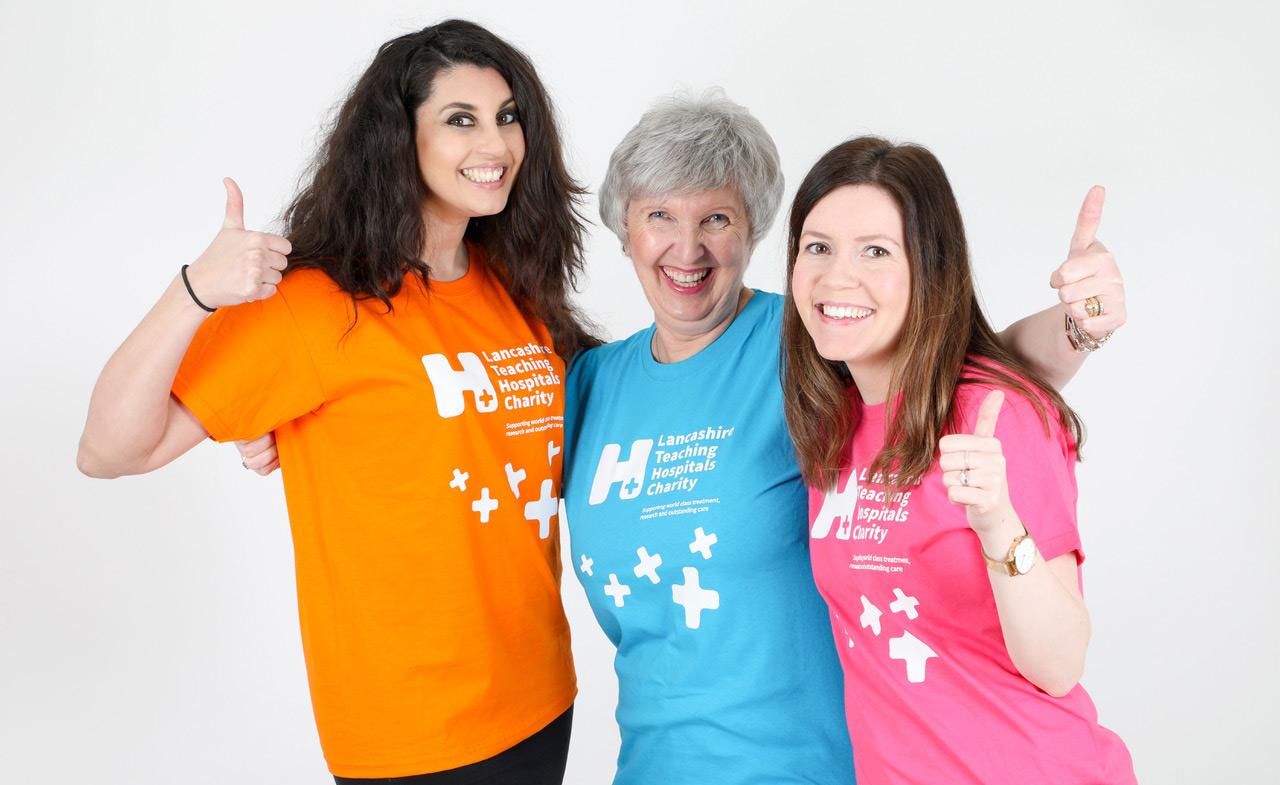 Lancashire Teaching Hospitals Charity Brand Identity T-shirt design