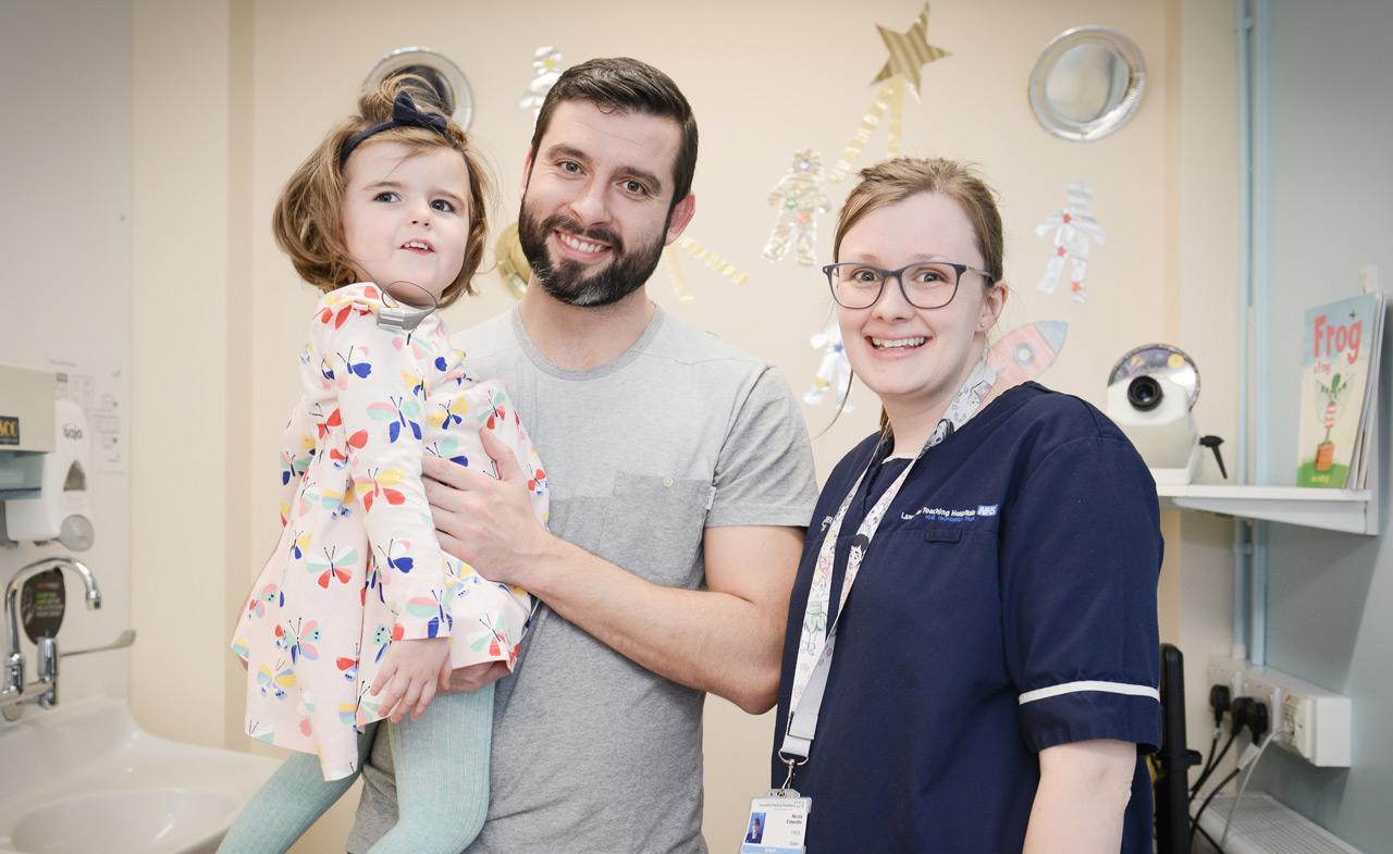 Patient, Father and Nurse Lancashire NHS Teach Hospitals Trust