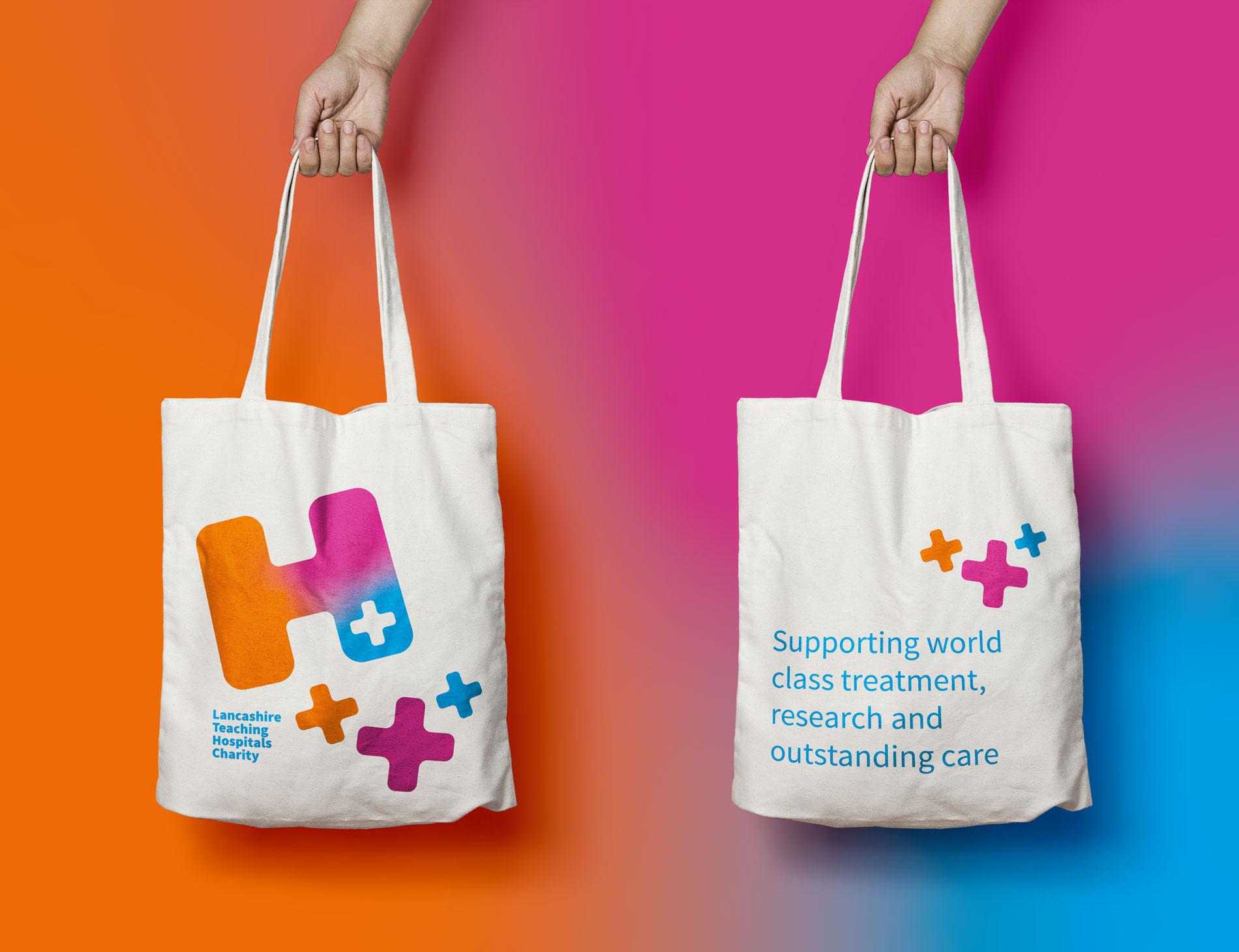 Lancashire Teaching Hospitals Charity Tote Bag Design