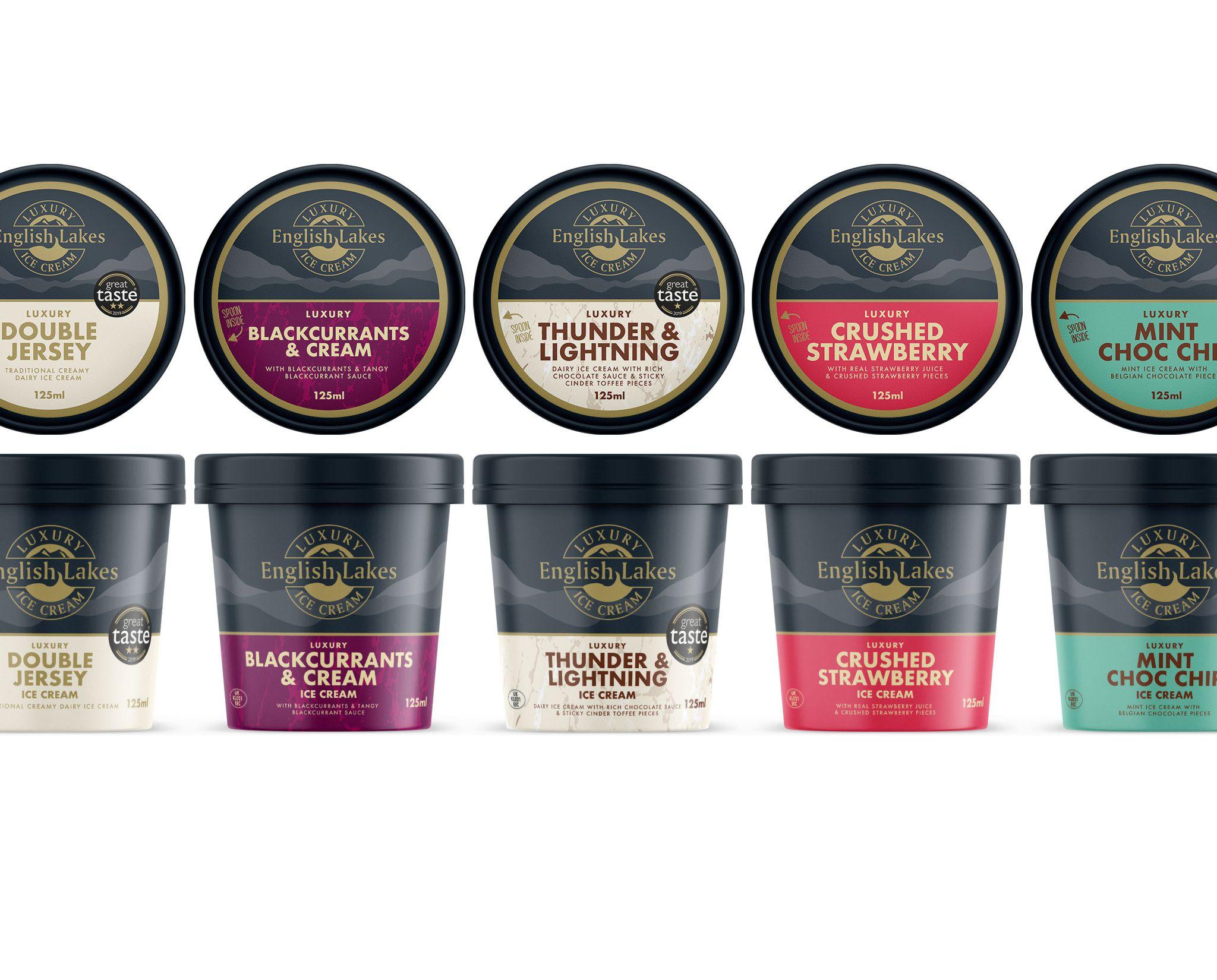 English Lakes Ice Cream Packaging Design