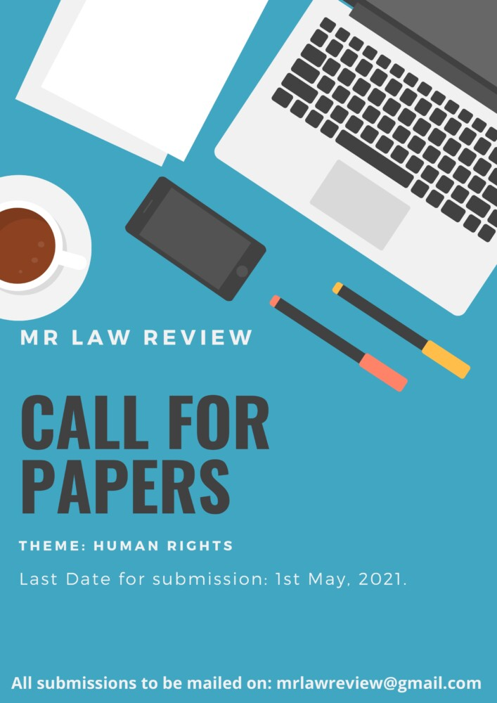 Call for Papers on Human Rights by MR Law Review [No Fees]: Submit by May 1