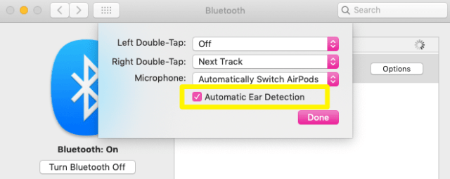 AirPods Automatic Ear detection Mac
