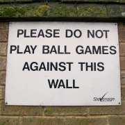 no wall ball sign