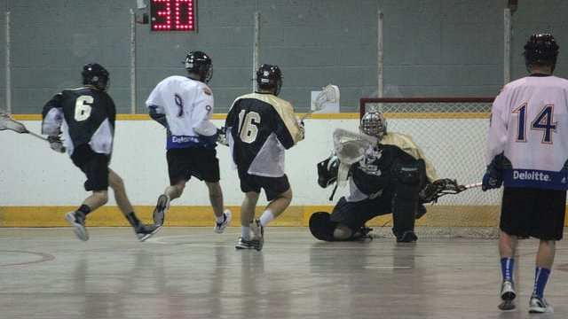 3 on 2 10 pass box field lacrosse practice drill