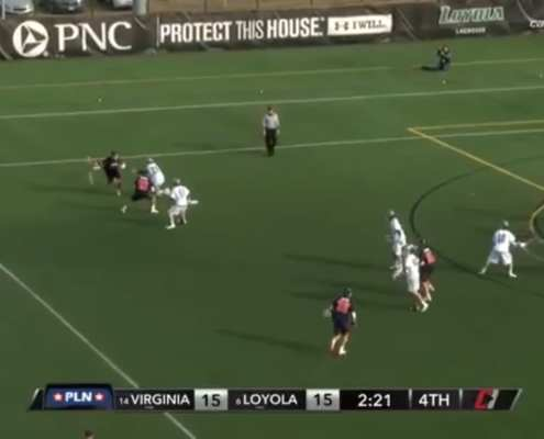 virginia loyola college lacrosse high wing pick offense play