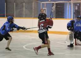 box lacrosse man up cut pick away play