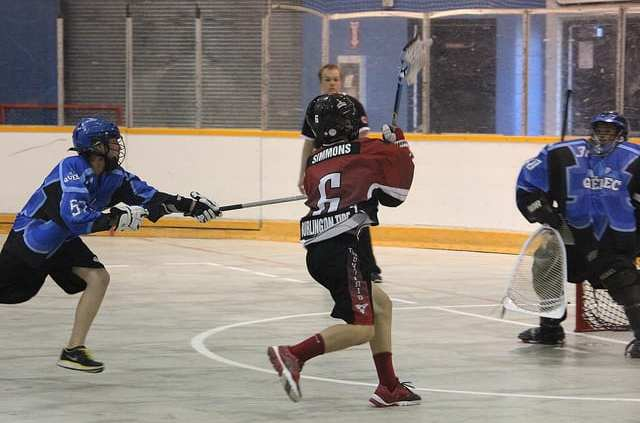 box lacrosse man up cut pick away play