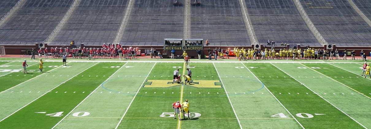 michigan ohio state lacrosse face off
