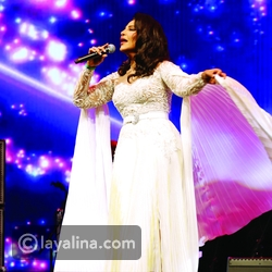 Ahlam with a Royal Look in White: Jumpsuit, signed by Zuhair Murad