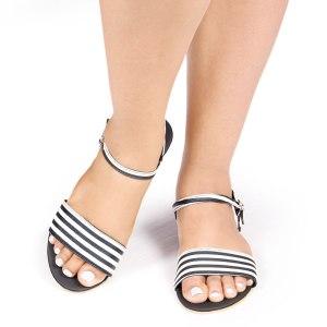Laydeez Monochrome Open Toe Sandal