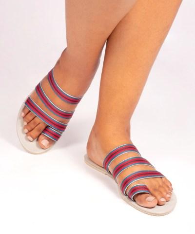 Laydeez Printed Strappy Sandals