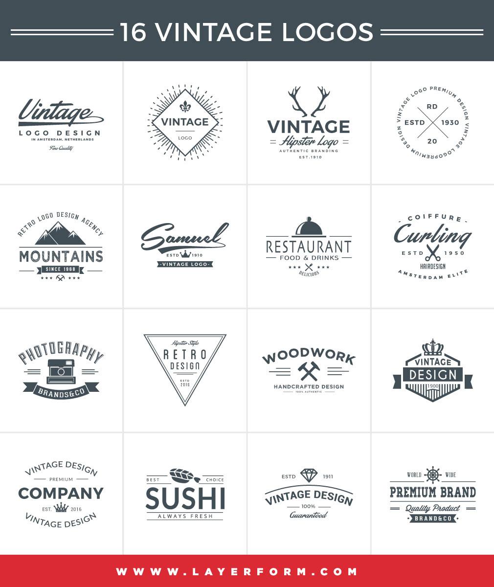 16-free-vintage-logos-set