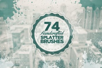 74 Handcrafted Splatter Photoshop Brushes