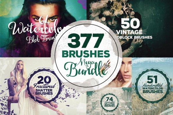 377 Photoshop Brushes Megabundle by Layerform Design Co
