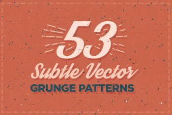 53 Subtle Vector Grunge Patterns by Layerform Design Co