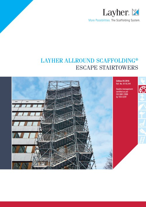 Layher Allround Scaffolding Escape Stairtowers