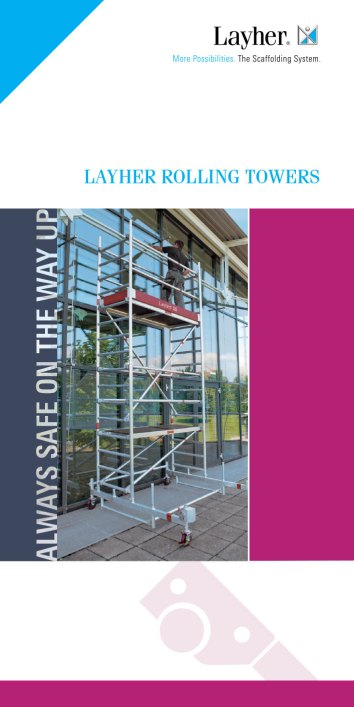 Layher Mobile Scaffold Towers Catalogue