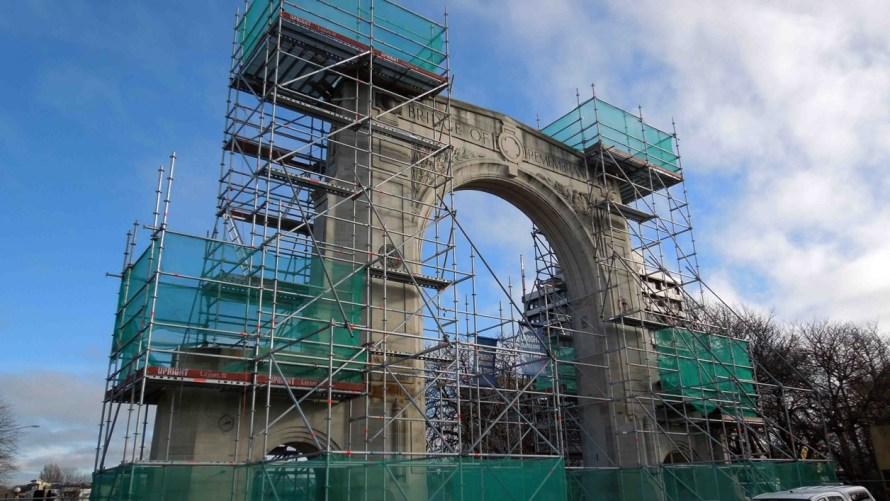 Triumphal Arch Scaffold by Upright Scaffolding