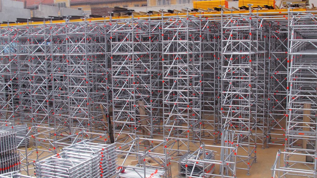 Allround Shoring TG 60 used together with formwork
