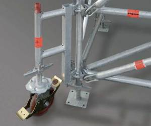 Easily reposition Shoring TG 60 towers with castors