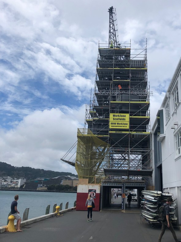 WorkZone Scaffolds was engaged by Wellington City Council to erect a scaffold on this historic crane
