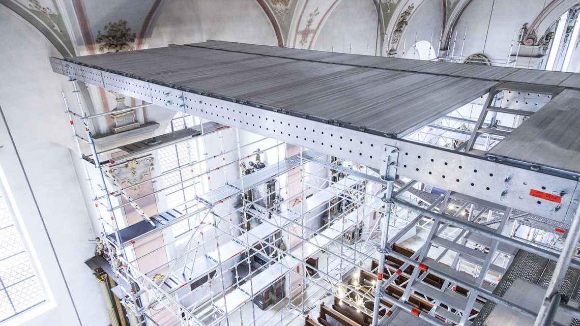 Layher Aluminium FlexBeam scaffolding