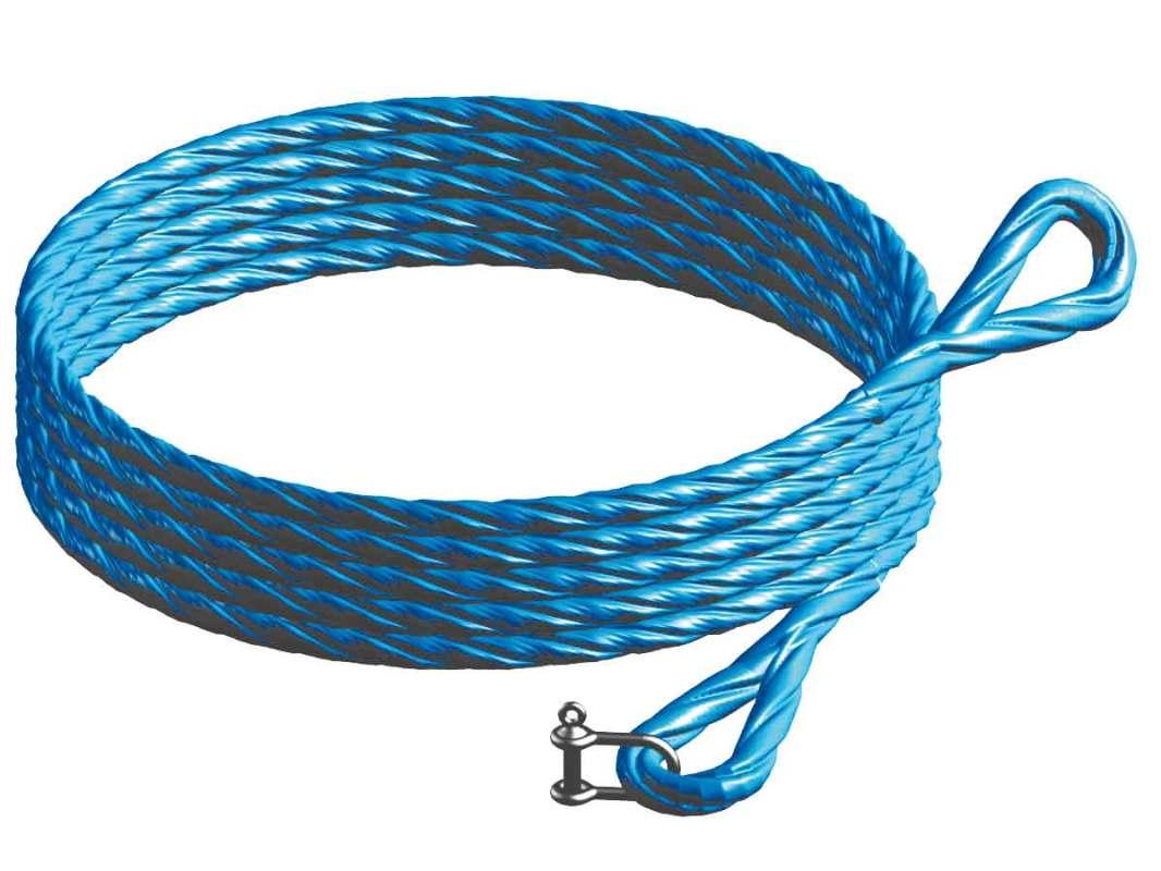 Gin wheel hoist rope (blue)