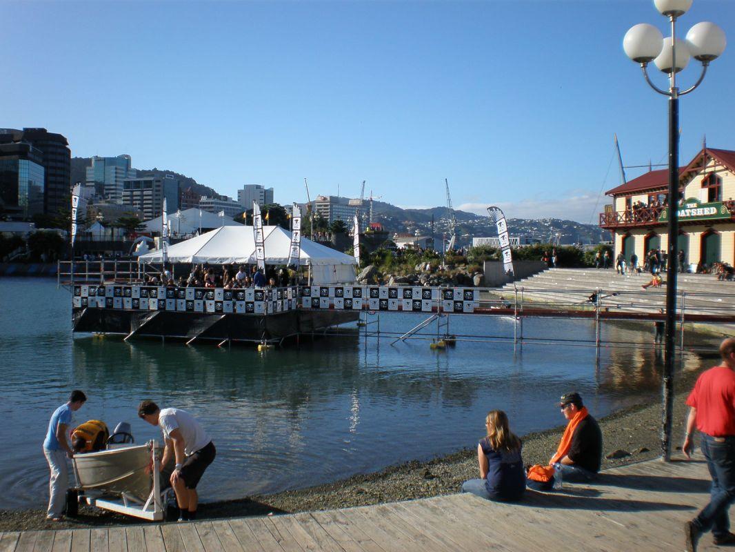 Hospitality venue built on Wellington Harbour
